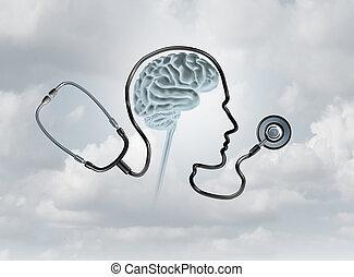 santé, concept, mental