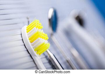 santé dentaire, soin, objets