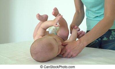 santé enfants, bébé, woman., obtient, masage