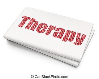 santé, fond, vide, journal, thérapie, concept: