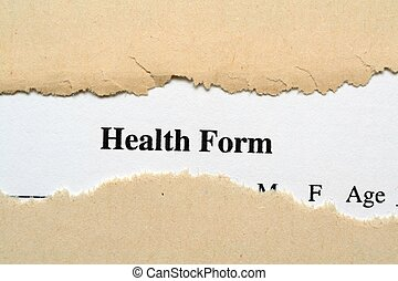 santé, formulaire