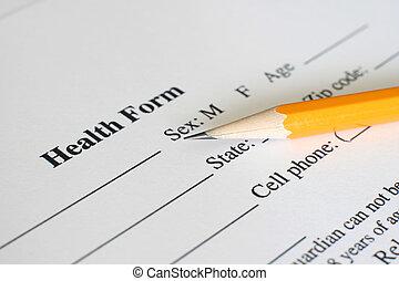 santé, histoire, formulaire