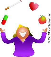 santé, jonglerie