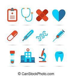 santé médicale, soin, icône
