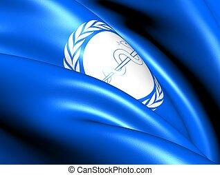 santé, mondiale, organisation, drapeau