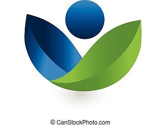 santé, nature, logo, vecteur