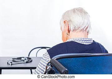 santé, personnes âgées soucient