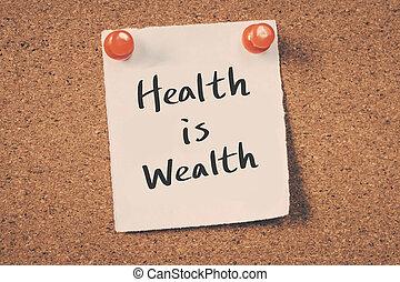 santé, richesse