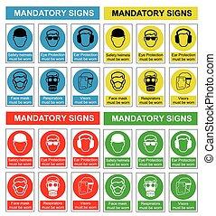 santé, sécurité,  collection, signe