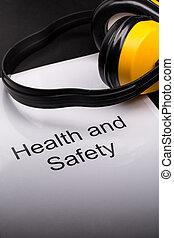 santé sécurité, registre, à, écouteurs