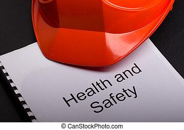 santé sécurité, registre, à, casque