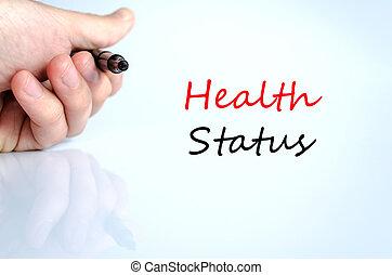 santé, statut, concept