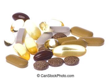santé, suppléments, macro, isolé