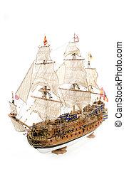 Old wooden Spanish galleon ship called Sant Felipe