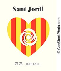 Sant Jordi. Traditional festival of Catalonia. Spain