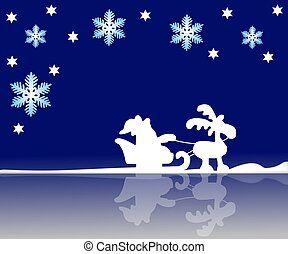 santa´s sleigh background