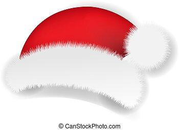 santa , άσπρο , claus , σκούφοs , xριστούγεννα , φόντο