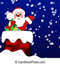 santa, クリスマス, 背景