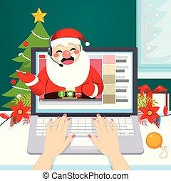 santa, サポート, helpline, オンラインで, 手紙
