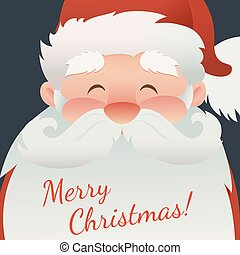 santa, ポスター, カード, テキスト, claus, 挨拶, ∥あるいは∥, 暗い, バックグラウンド。, フライヤ, デザイン, 陽気, 旗, クリスマス