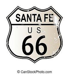 santa, ルート, 印, fe, 66, ハイウェー