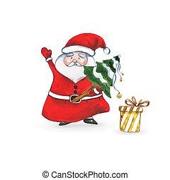 santa, 贈り物, claus