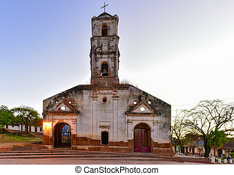 Santa Ana Church - Trinidad, Cuba - Ruins of the colonial...