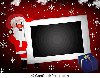 Christmas photo frame illustrations and clip art 1839 christmas santa and blank photo frame background abstract vector m4hsunfo