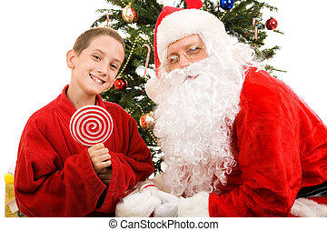Santa and Little Boy