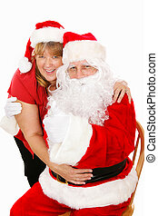 Santa and Mrs Claus in Love