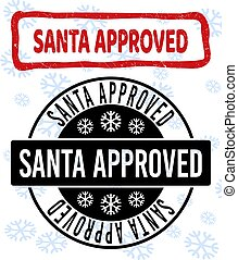 Santa Approved Grunge and Clean Stamp Seals for New Year