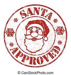 Santa approved stamp