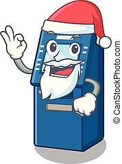 Santa ATM toys on the cartoon cupboard