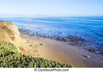 Santa Barbara California Beach - As the sun sets it lights...