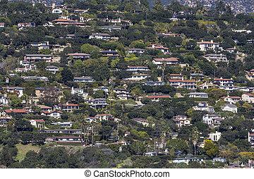 Santa Barbara California Hillside Homes