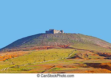 Santa Barbara of Guanapay Castle at Teguise, Lanzarote....