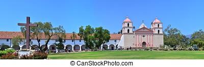 Santa Barbara old spanish mission in California, USA.
