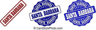 SANTA BARBARA Scratched Stamp Seals