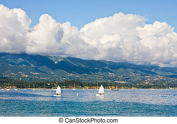 Santa Barbara Waterfront - The Santa Barbara coastline with...