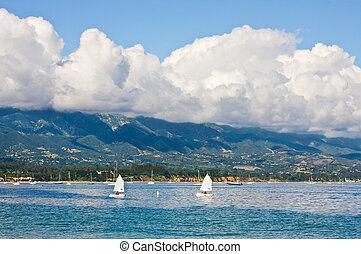 Santa Barbara Waterfront - The Santa Barbara coastline with...