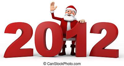 Santa behind 2012 numbers