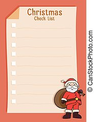 Santa Blank Christmas Check List