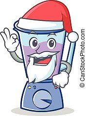 Santa blender character cartoon style
