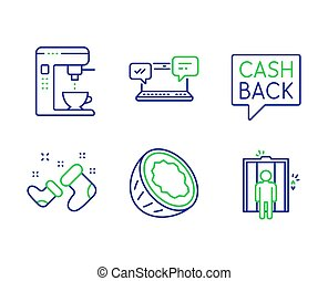 Santa boots, Money transfer and Internet chat icons set. ...