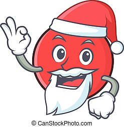 Santa bowling ball character cartoon