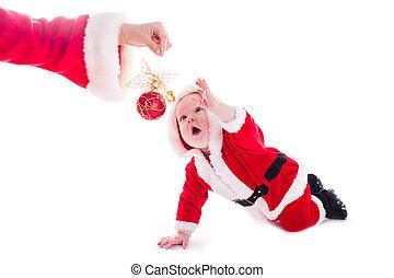Santa boy isolated