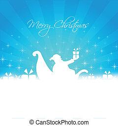 santa bringing gifts card