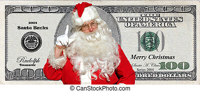 Santa Bucks! Santa has his own money and now You too can share in the joy and wealth of the christmas season (not legal tender!!!)
