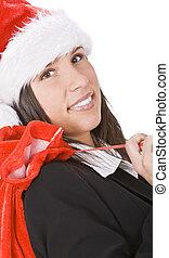 Santa businesswoman