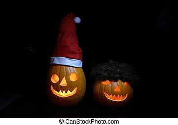 Santa Calus Halloween pumpkin